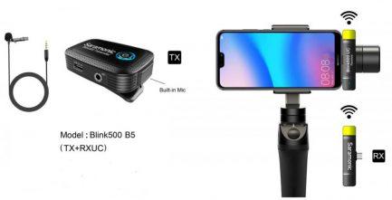 Saramonic Blink500 B5(TX+RXUC) 2.4G USB Type-C裝置 無線麥克風系統 1對1 自動配對 自動跳頻