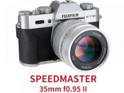 (客訂商品)【享樂官網限定-買就送保護鏡】(銀色版)中一光學 SpeedMaster 35mm F0.95 2代 FujiFilm X-Mount/Canon EOS-M 微單眼鏡頭 F0.95超大光圈!