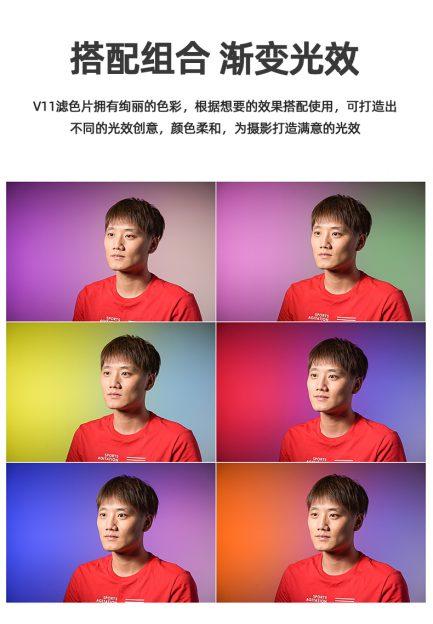 V1-11C 圓燈頭閃光燈 AD200 圓燈頭 色片組 15色套裝 色彩效果組 需搭配AK-R1磁吸框 V1適用 背景光 濾色片