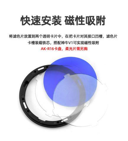 V1-11T 圓燈頭閃光燈 色片組 4色系 深到淺 色溫調整組 需搭配AK-R1磁吸框 AD200/V1適用 色溫片 背景光 濾色片