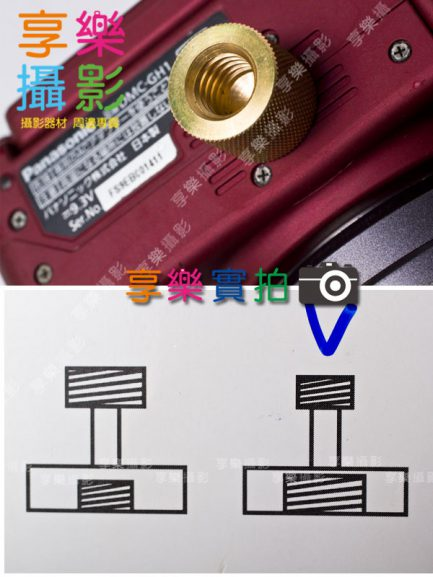 1/4公 - 3/8母固位螺絲柱 小-大 轉接螺絲 螺母 單腳架 三腳架 雲台 轉換 螺絲柱