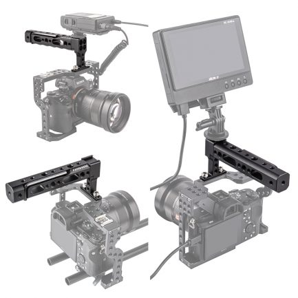 唯卓仕Fanshang 兔籠用手把 上提手柄 冷靴口 含1/4 3/8螺孔 金屬製 錄影 拍攝 攝影機握把