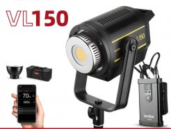 GODOX神牛 VL150 LED 白光持續燈 150W 室內戶外兩用 V掛電池 藍芽APP控制 保榮口 攝影燈/錄影棚燈 VL-150