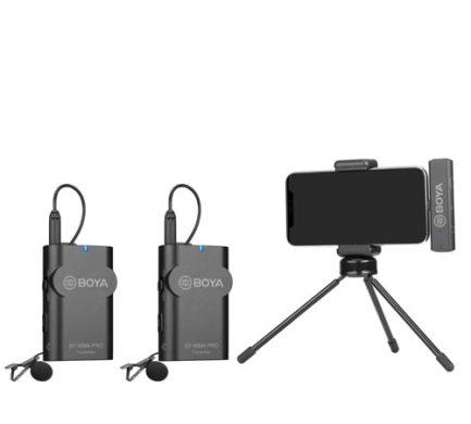 BOYA BY-WM4 Pro-K4 一對二 2.4G 無線麥克風系統 iOS系統 LIGHTNING接頭