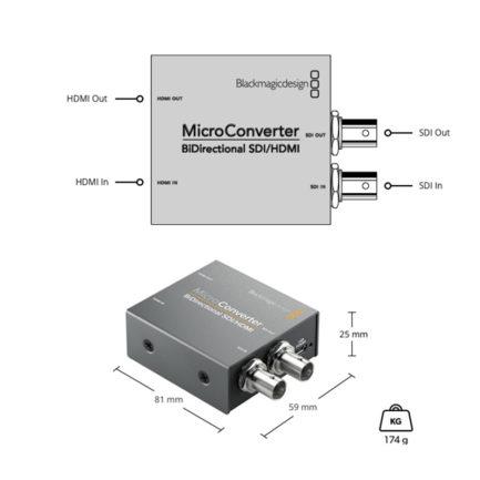 (客訂商品)Blackmagic Micro Converter SDI/HDMI wPSU 雙向轉換器 附電源供應器 富銘公司貨