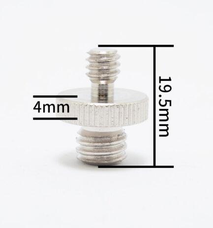 1/4公-3/8公 雙公頭螺絲 圓底 FX-40