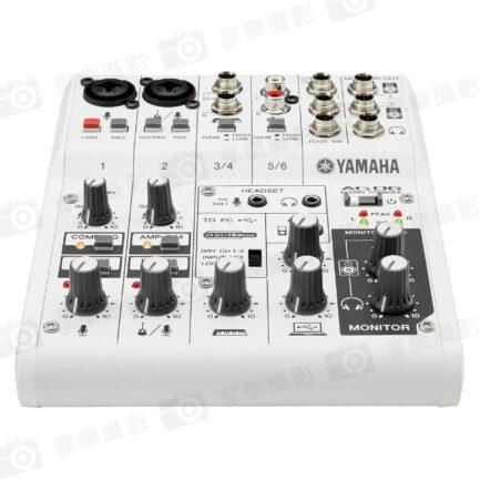 YAMAHA AG06 直播神器Podcast 錄音介面 USB多功能6軌混音器 聲卡/直播/表演/廣播 麥克風 吉他