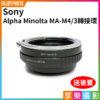 Sony Alpha Minolta MA - M4/3 微單眼 異機身轉接環 送後蓋