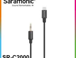 Saramonic SR-C2000 3.5mm(TRS) 轉 Lightning音源轉接線 APPLE iOS設備【線長27.5cm】