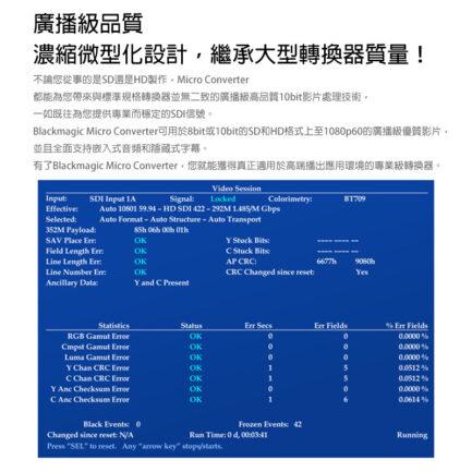 (客訂商品)Blackmagic BMD Micro Converter SDI to HDMI 3G 新一代迷你轉換器(含wPSU電源線) 音頻轉換器 富銘公司貨
