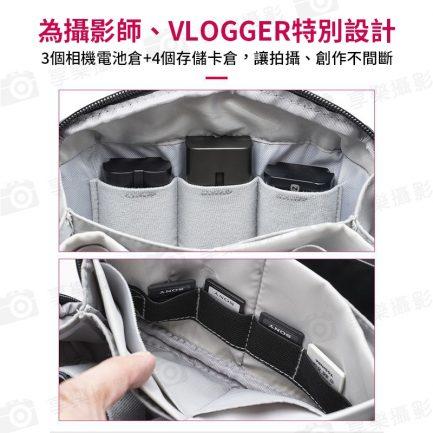 【Ulanzi Vlogging Gear 配件收納包】多隔層 相機電池/記憶卡收納 防水防塵 手提 單肩 斜跨 攝影/外拍/旅行