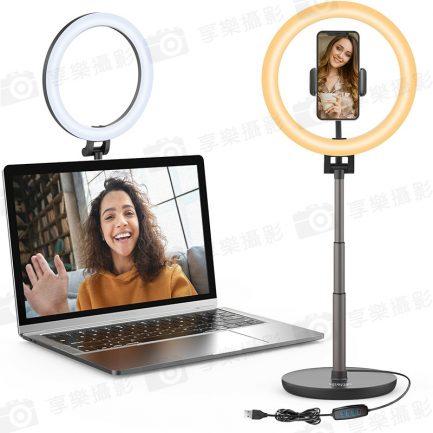 【Ulanzi VL120C USB桌面LED環形燈】雙色溫 附手機夾 USB供電 補光燈美光燈 直播/錄影/自拍