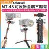 【ulanzi MT-43 可反折金屬三腳架】24.6-31.6cm 承重2.5kg Acra 冷靴 阻尼雲台 自拍桿 Vlog/直播/錄影